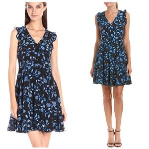 NWT Rebecca Taylor Ava Floral Ruffle Silk Dress 8